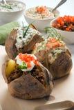 Patata cocida al horno Foto de archivo libre de regalías