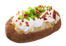 Patata cocida al horno cargada Fotos de archivo libres de regalías