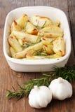 Patata cocida al horno con la especia fotos de archivo libres de regalías