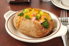 Patata cocida al horno rellena Imagen de archivo libre de regalías