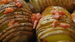 Patata cocida con tocino y especias metrajes
