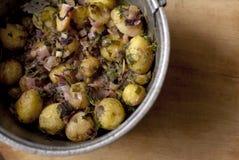 Patata con le verdure Fotografia Stock Libera da Diritti