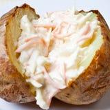 Patata cotta calda e croccante Immagini Stock
