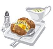 Patata cotta con salsa royalty illustrazione gratis