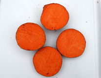 Patata de Carolina Ruby Sweet, ñame rojo, ipomoea batatas Imagenes de archivo