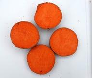 Patata de Carolina Ruby Sweet, ñame rojo, ipomoea batatas Fotografía de archivo