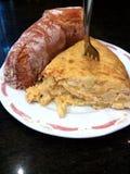 Patata de Pincho de Tortilla De d'omelette de pommes de terre Cuisine Basque de pays Gastronomie espagnole Images libres de droits
