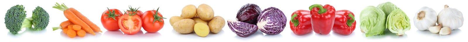 Patata della verdura della lattuga del peperone dolce dei pomodori delle carote delle verdure Fotografia Stock