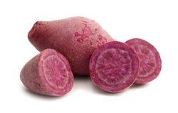 Patata dolce viola immagini stock