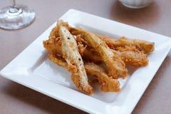 Patata dulce y taro fritos Imagen de archivo libre de regalías