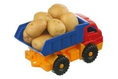 Patata en el carro Fotografía de archivo