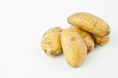 Patata en el fondo blanco Foto de archivo libre de regalías