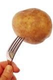 Patata en una fork imagen de archivo