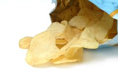 Patata fritta, chip Immagine Stock