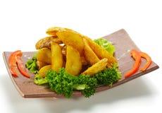Patata fritta nel grasso bollente Fotografia Stock