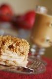 Patata a la inglesa y café calientes de Apple Imagen de archivo