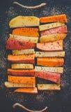 Patata, patata dulce y especie Foto de archivo