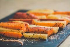 Patata, patata dulce y especie Foto de archivo libre de regalías