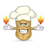 Patata - quemadura Foto de archivo libre de regalías