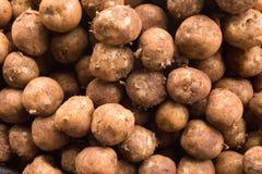 Patata sul pavimento, rosso della macchia della patata Fotografia Stock