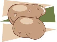 Patatas ilustración del vector