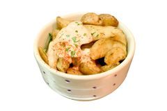 Patatas asadas a la parilla Imagen de archivo libre de regalías