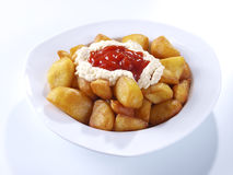 Patatas Bravas – Hot spicy fried potatoes Royalty Free Stock Photo