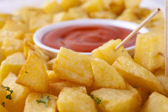 Patatas Bravas Close-up Stock Photos