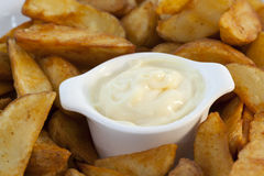 Patatas Bravas With Dipping Sauce Stock Images
