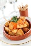 Patatas bravas, spanish tapas cuisine Royalty Free Stock Photography