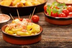 Patatas bravas traditional Spanish potatoes snack tapas Royalty Free Stock Photography