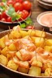 Patatas bravas traditional Spanish potatoes snack tapas Stock Photo