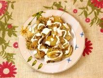 Patatas cocidas al horno Imagen de archivo libre de regalías
