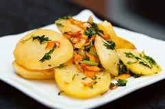 Patatas cocidas al horno Imagen de archivo