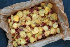 Patatas cocidas al horno foto de archivo