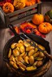 Patatas cocidas rústicas Fotografía de archivo libre de regalías