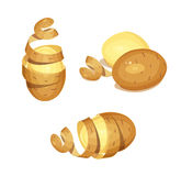 Patatas con la cáscara Producto alimenticio vegetal libre illustration