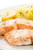 Patatas de color salmón y hervidas asadas Foto de archivo libre de regalías