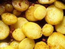 patatas de la carne asada fotos de archivo