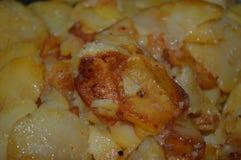 Patatas de la fritada-para arriba imagenes de archivo