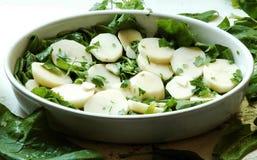 Patatas de la hornada Foto de archivo libre de regalías