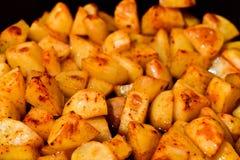 Patatas de la paprika Imagenes de archivo