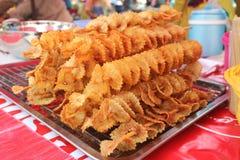 Patatas del pincho fritas Imagenes de archivo