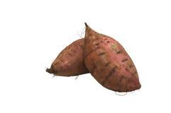 Patatas dulces aisladas Imagenes de archivo