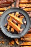 Patatas dulces orgánicas Fotos de archivo libres de regalías