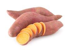 Patatas dulces orgánicas Imagen de archivo libre de regalías