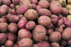 Patatas en el mercado de los granjeros Fotos de archivo