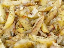 Patatas en el simple Fotografía de archivo