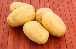 Patatas en fondo enselvado Imagen de archivo libre de regalías