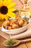 Patatas en petróleo de girasol Imágenes de archivo libres de regalías